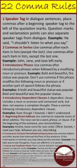 22 Comma Rules with Examples