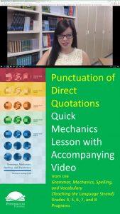 Direct Quotations Punctuation
