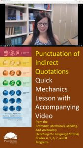 Indirect Quotations Punctuation