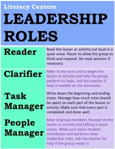 Leadership Roles for Literacy Centers