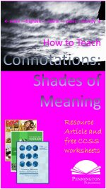 How to Teach Connotations Shades of Meaning Vocabulary