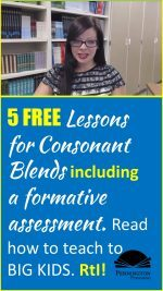 Consonant Blends for RtI