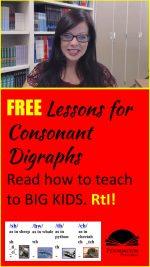 Consonant Digraphs for RtI
