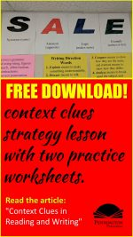 Context Clues Strategy and Worksheets