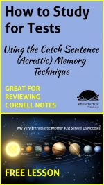 Catch Sentence (Acrostic) Memory Strategy