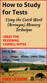 Catch Word (Acronym) Memory Strategy