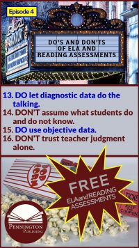 ELA and Reading Assessment Do's and Don'ts