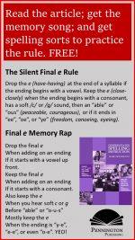Final Silent e Spelling Rule