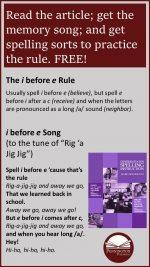 i before e Spelling Rule