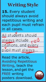 How to Avoid Repetitious Writing