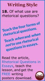 Essay Rhetorical Questions