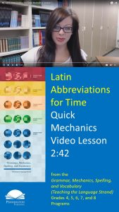 How to Teach the Latin Abbreviations for Time
