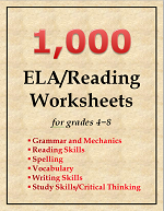 1000 ELA and Reading Worksheets for Grades 4-8 Teachers
