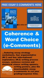 Using Coherence and Word Choice e-Comments