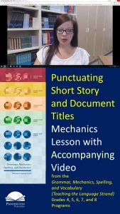 Punctuating Short Story and Document Titles