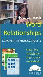 How to Teach Word Relationships Vocabulary