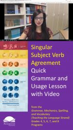 Verb Agreement with Singular Subjects