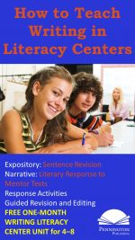 Teach Writing in Literacy Centers