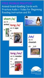Animal Sound-Spelling Cards for Phonics