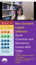 Avoiding Non-standard English Deletions