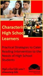 Characteristics of High School Students in Reading Intervention