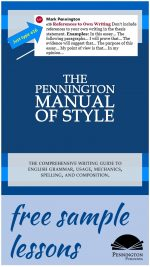 Essay Response: The Pennington Manual of Style