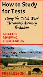 Catch Word (Acronym) Memory Strategy
