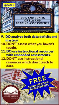 ELA and Reading Assessments Do's and Don'ts