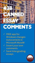 Canned Essay e-Comments