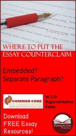 Where to Place the Essay Counterclaim