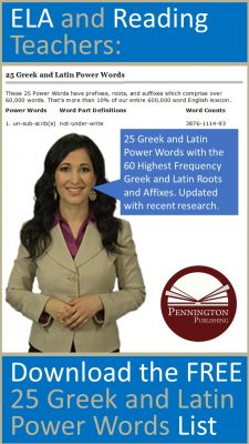 25 Greek and Latin Power Words by Pennington Publishing