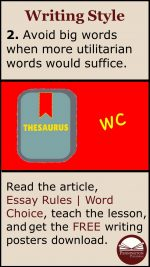 Word Choices for Essays