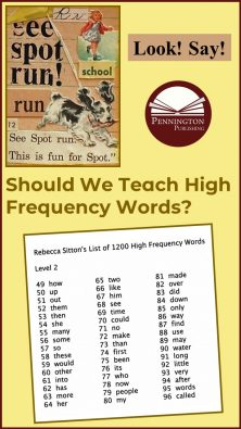 Should We Teach High Frequency Words?
