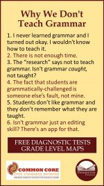 Why Don't We Teach Grammar?