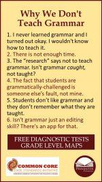 Why Don't We Teach Grammar?