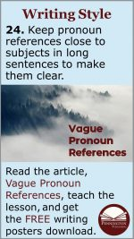 Revising Vague Pronoun References