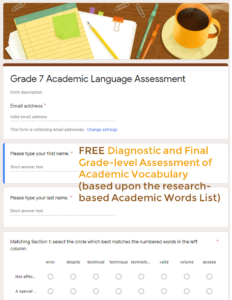 Academic Words Assessment