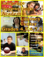 Language Conventions Literacy Center Grades 4-8