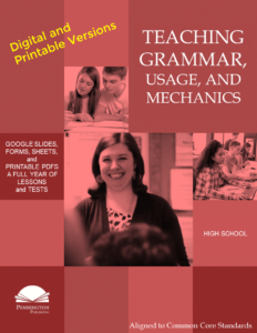 Teaching Grammar, Usage, and Mechanics Printable and Digital Programs